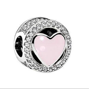 PANDORA Silver CZ & Enamel Wonderful Love Charm